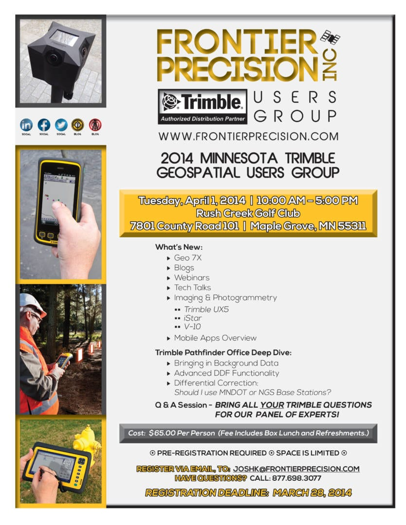2014 MN Trimble Mapping Users Group Meeting