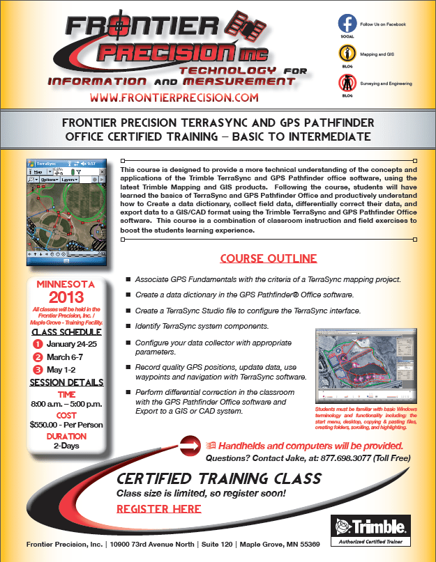 TerraSync GPS Pathfinder Office Certified Training