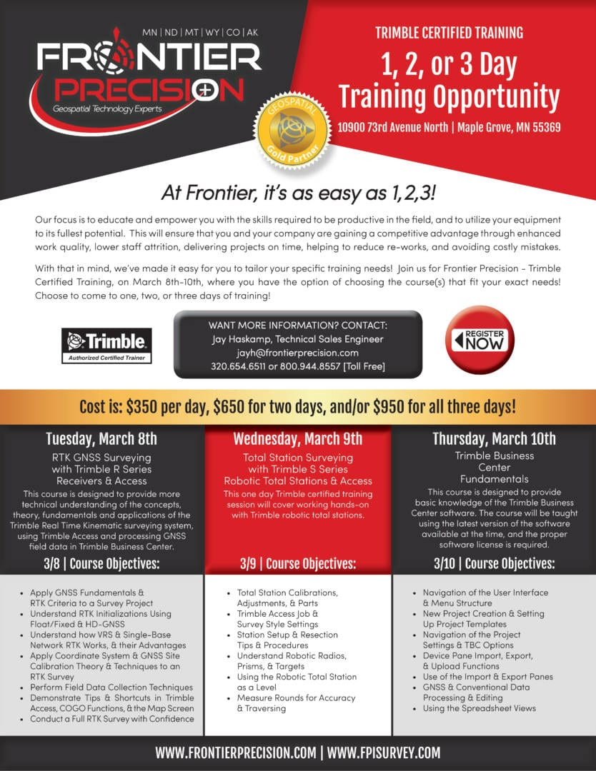 MG March 3 Day Training Flyer