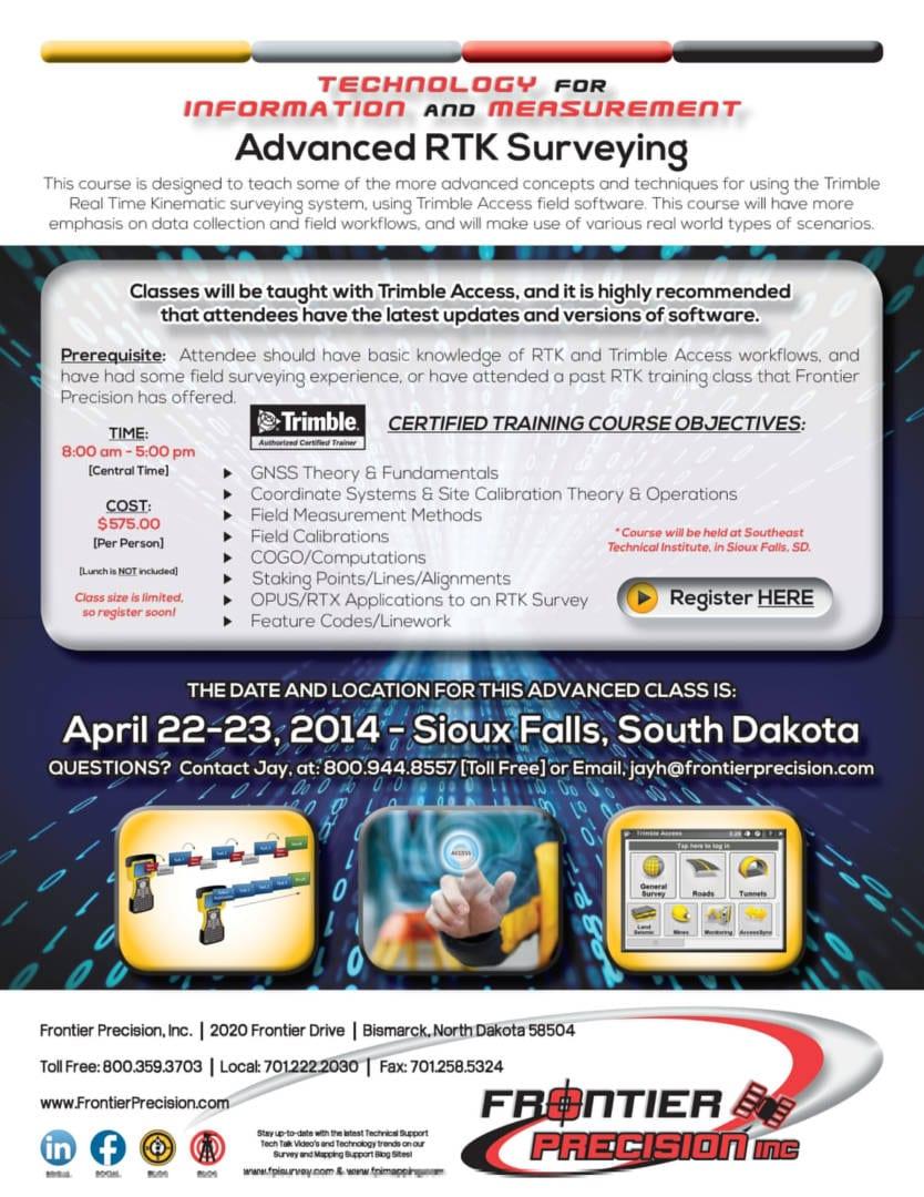 Sioux Falls - Jay FPI RTK Advanced Surveying Flyer 2014